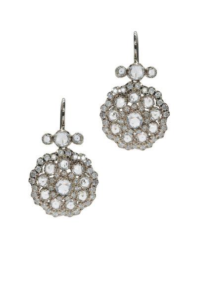Nam Cho - 18K White Gold White Sapphire & Diamond Earrings