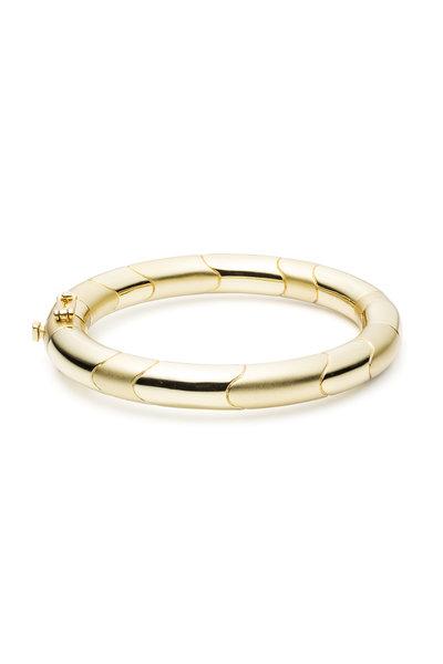 Eddie Borgo - Yellow Gold Plate Circular Prism Bracelet