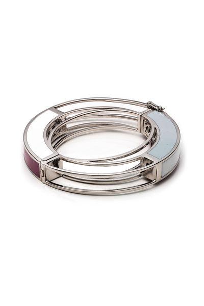Eddie Borgo - Silver Plate Circle Frame Bracelet