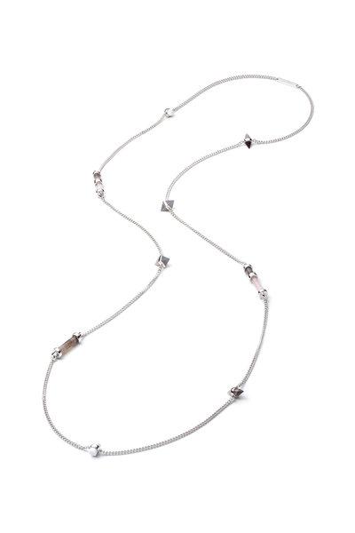 Eddie Borgo - Agate Gemstone Cylinder Station Necklace