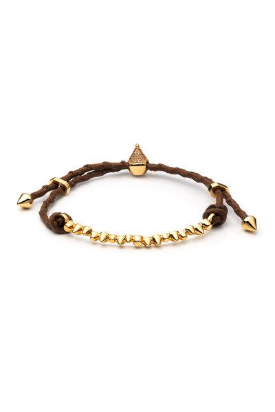 Eddie Borgo - Yellow Gold Plate Cone Composition Bracelet