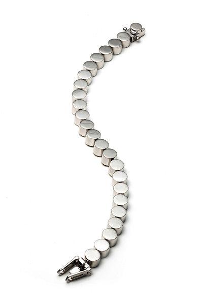 Eddie Borgo - Silver Plate Medium Cylinder Bracelet