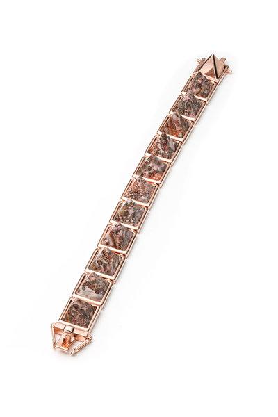 Eddie Borgo - Pink Leopard Jasper Pyramid Bracelet