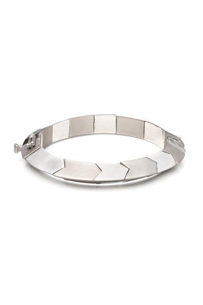Eddie Borgo - Silver Plated Triangle Prism Bracelet