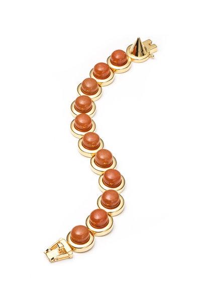 Eddie Borgo - Gold Plated Peach Dome Bracelet
