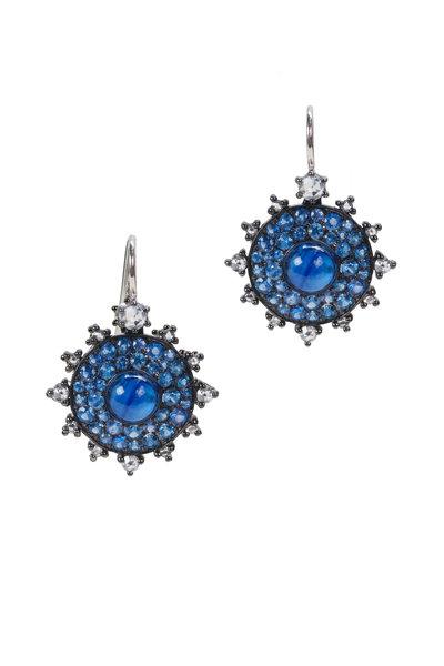 Nam Cho - White Gold Sapphire & Kyanite & Diamond Earrings