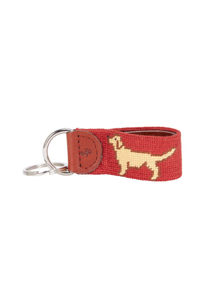 Smathers & Branson - Rust Golden Retriever Needlepoint Key Fob