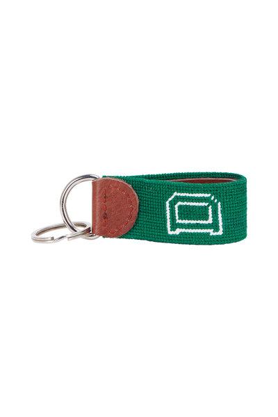 Smathers & Branson - Green Dartmouth Needlepoint Key Fob