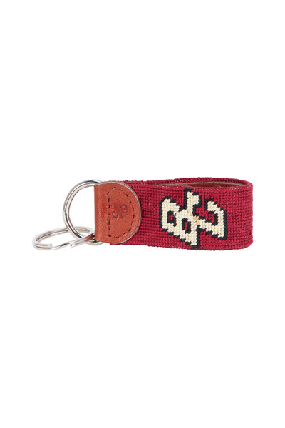 Smathers & Branson - Maroon Boston College Needlepoint Key Fob