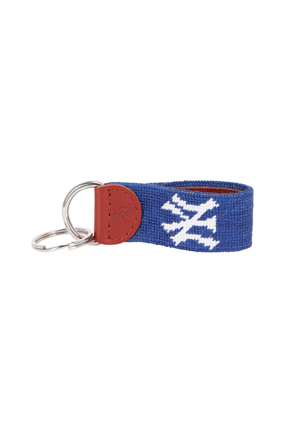 Smathers & Branson Navy Blue New York Yankees® Needlepoint Key Fob