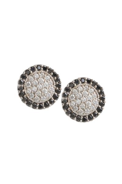 Jamie Wolf - Scallop Pave Center Black Diamond Earrings