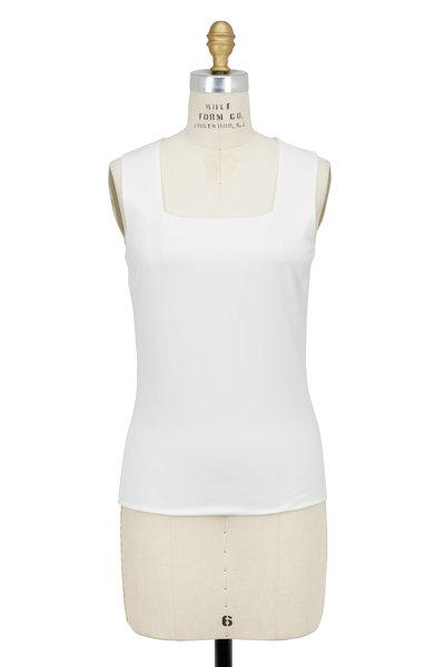 Akris Punto - Cream Stretch-Cotton Sleeveless Tank