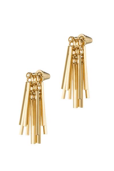 Eddie Borgo - Yellow Gold Plated Fringe Earrings