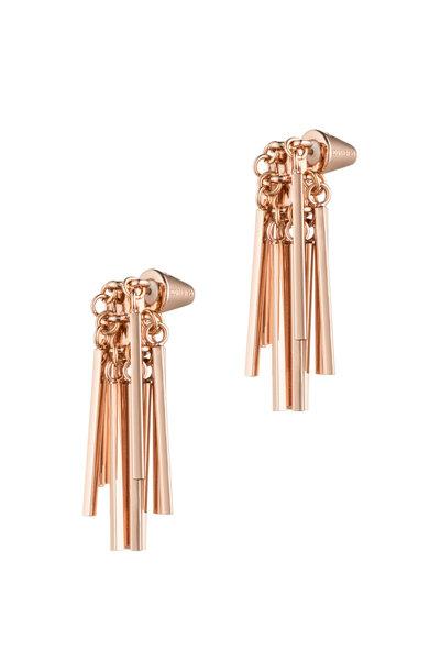 Eddie Borgo - Rose Gold Plate Fringe Earrings