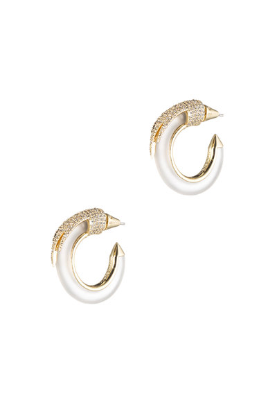 Eddie Borgo - Gold Plated Crystal Hoops