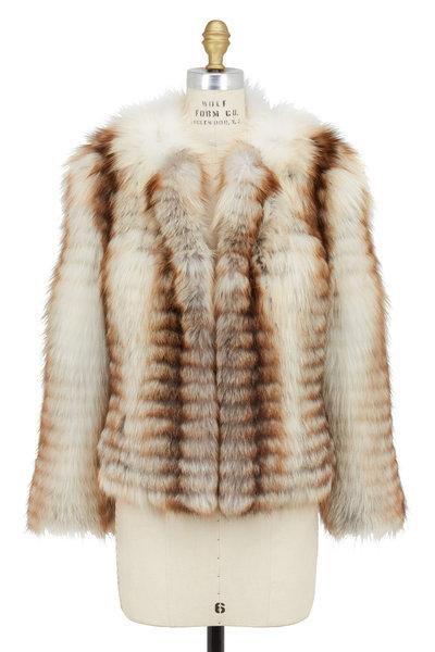 Oscar de la Renta Furs - Toffee Dyed Fawn Light Fox Jacket