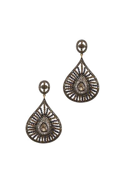 Loriann - Black Pear Shape Earring