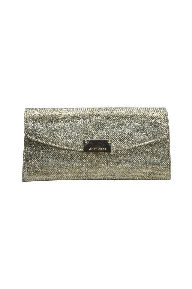 Bronze Chain Glitter Clutch