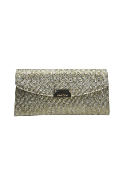 Jimmy Choo - Bronze Chain Glitter Clutch