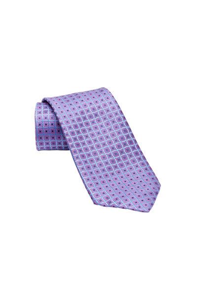 Charvet - Purple Diamond Dot Silk Necktie