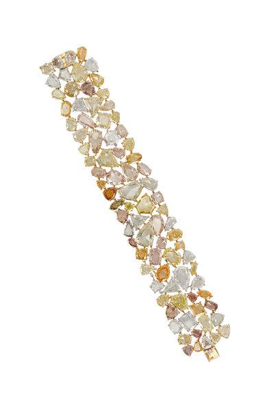 Louis Newman - Diamond Multicolor Fancy Bracelet