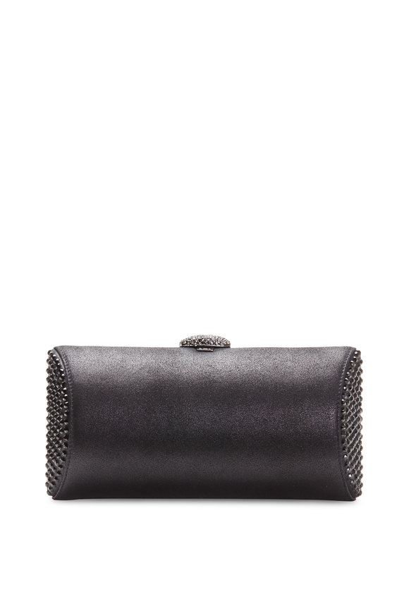 Rodo Firenze Burma Black Crystal Clutch