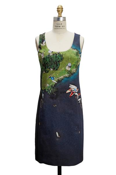 Akris Punto - Navy Blue Cotton Surfer Dress