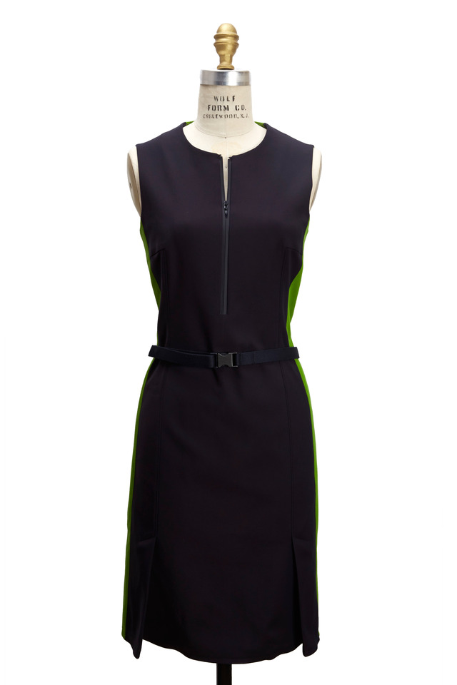 Navy Blue & Green Sheath