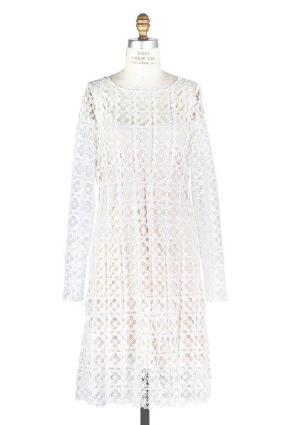 Oscar de la Renta - White Clover Lace Dress