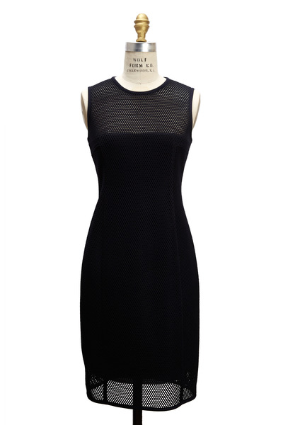 Akris Punto - Navy Blue Mesh Dress