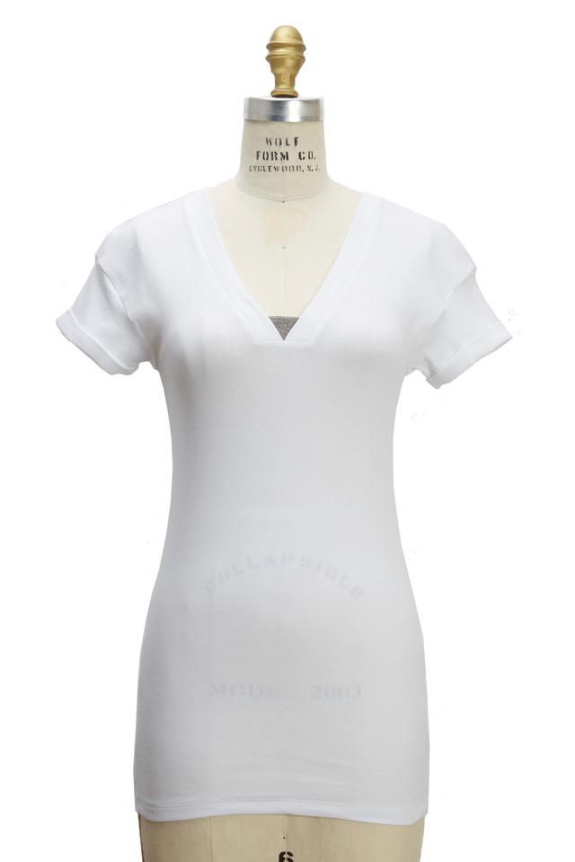 White Cotton Monili T-Shirt