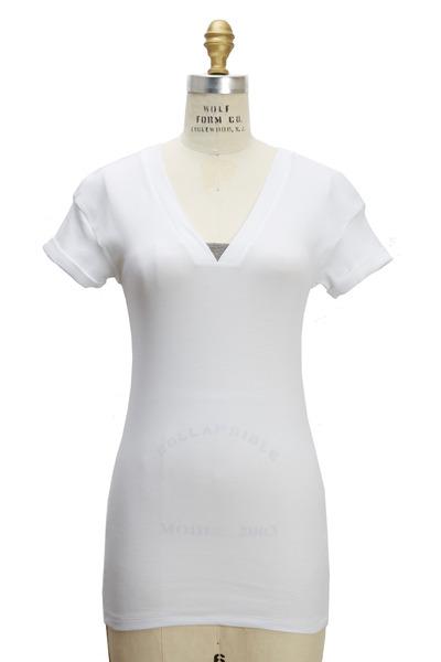 Brunello Cucinelli - White Cotton Monili T-Shirt