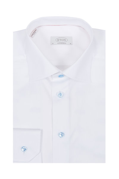 Eton - White Contemporary Fit Dress Shirt