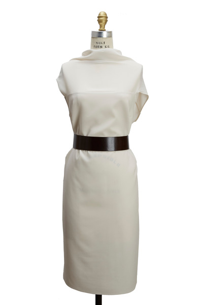 Brunello Cucinelli - Vanilla Silk Crepe Dress