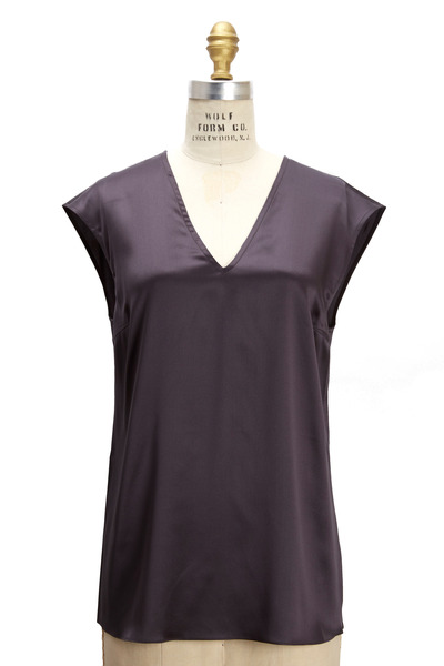 Brunello Cucinelli - Volcano Silk Top