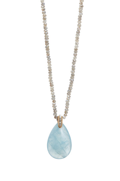 Dana Kellin - Yellow Gold Aqua Labradorite Necklace