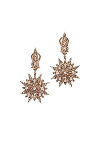 Sutra - Rose Gold All Diamond Earrings