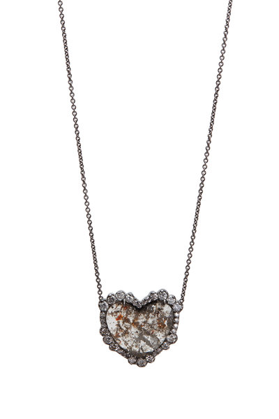 Kimberly McDonald - White Gold Diamond Heart Necklace