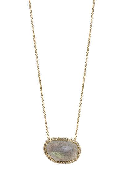 Kimberly McDonald - Yellow Gold Labradorite Diamond Necklace