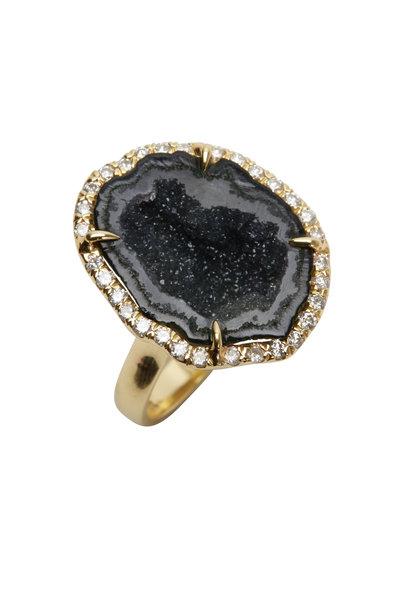Kimberly McDonald - Yellow Gold Dark Geode Diamond Cocktail Ring