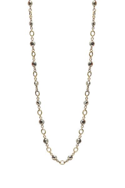 Sylva & Cie - Yellow Gold Pyrite Bead Necklace
