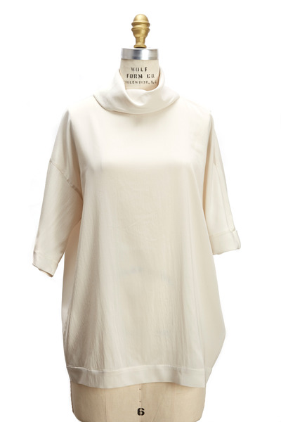 Brunello Cucinelli - Vanilla Silk Stretch Sweater