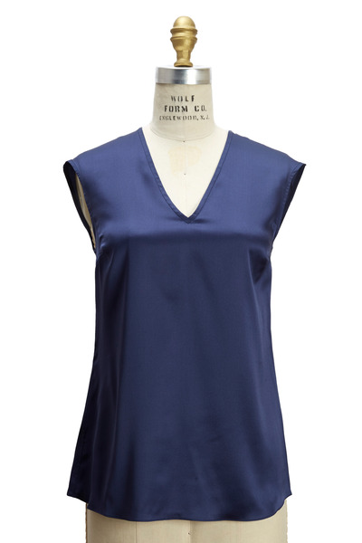 Brunello Cucinelli - Royal Blue Silk Top