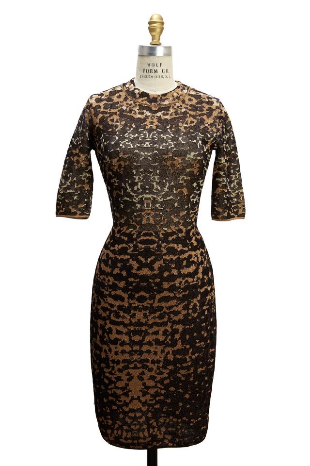 Lizard Gold Lurex Jacquard Dress