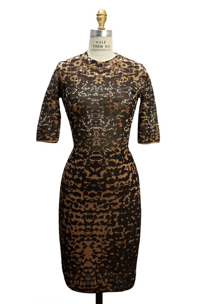 M Missoni - Lizard Gold Lurex Jacquard Dress