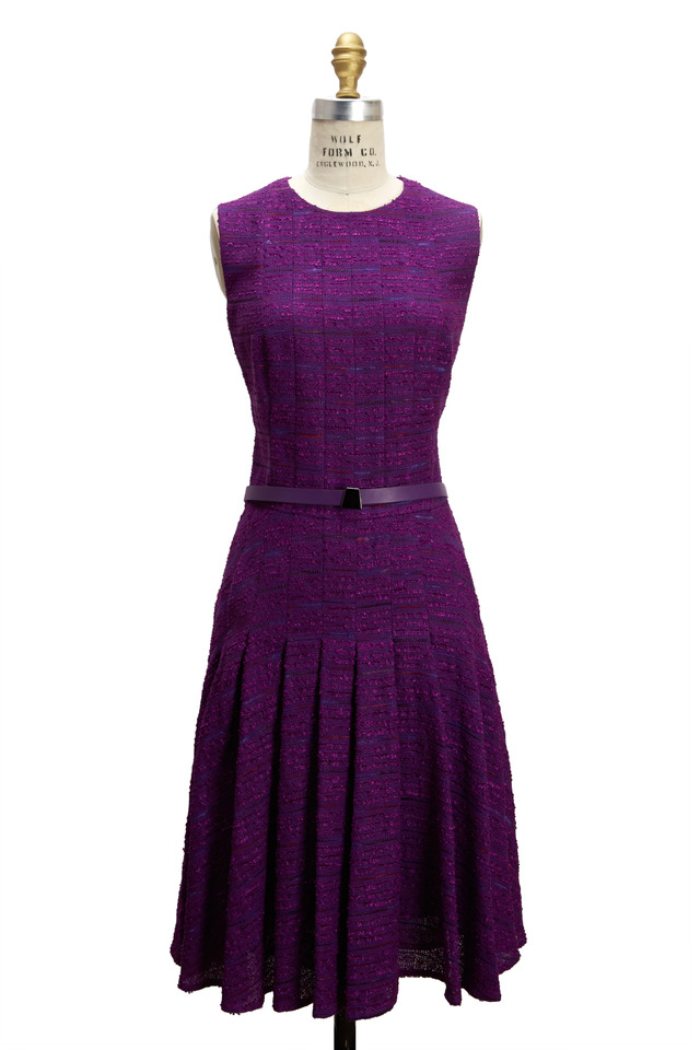 Violet Cotton Sleeveless Dress