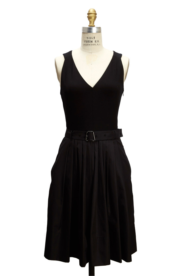 Black Silk & Cotton Dress