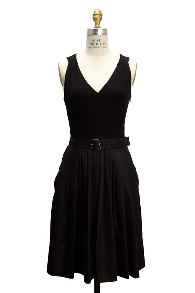 Akris - Black Silk & Cotton Dress