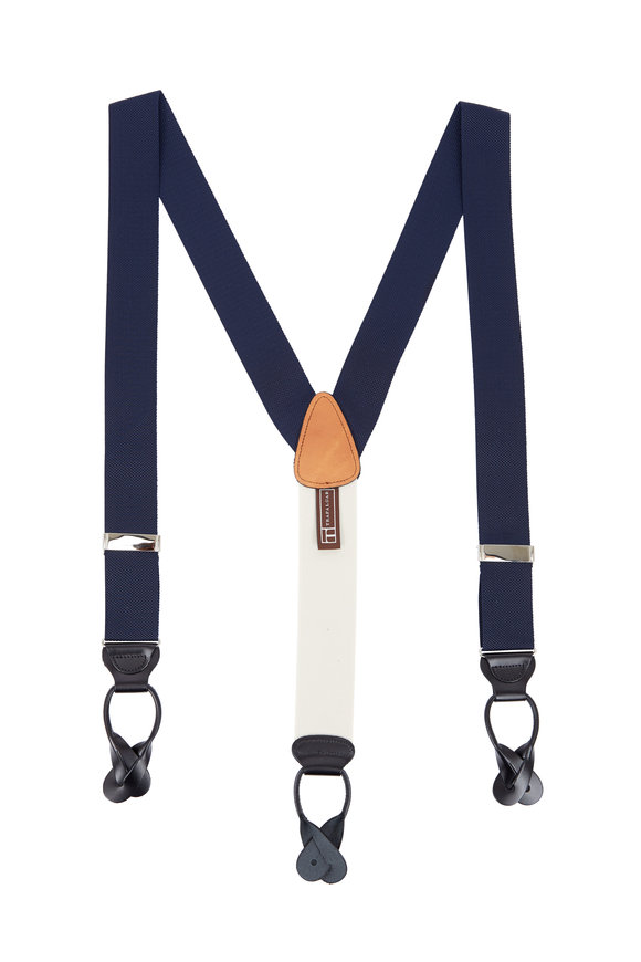 Trafalgar Classic Solid Navy Suspenders
