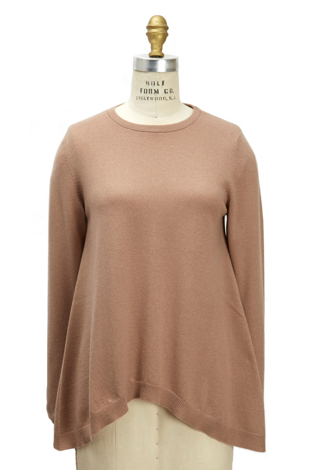 Biscotti Long Sleeve Cashmere Trapeze Pullover